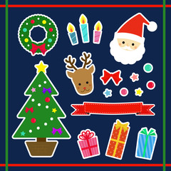 クリスマス 素材セット  / vector eps10
