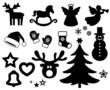 Icon Set Weihnachten, schwarz, Vektor, freigestellt