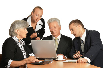 Group of a business people