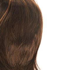Hair fragment over the white