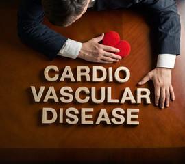Phrase Cardio Vascular Disease and devastated man