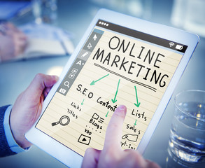 Digital Device Online Marketing Concepts