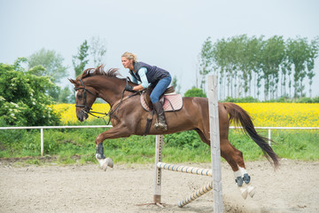 Jumping with horse