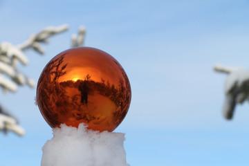 Sphere on snow