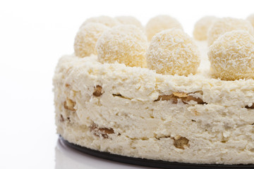 Coconut Cake on a white background