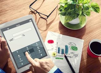 Digital Online VAT Business Tax Concepts