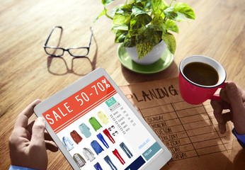 Digital Online Marketing Sale Shopping Concepts