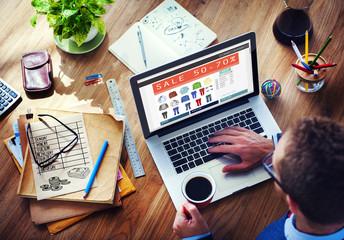 Digital Online Marketing Commerce Sale Concepts