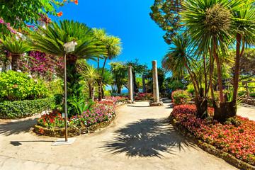Park in Ravello,Rufolo garden,Amalfi coast,Italy,Europe