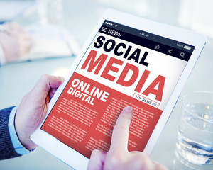 Digital Online Report News Social Media Concepts