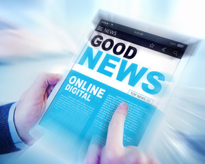 Digital Online Update Good News Concepts