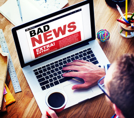 Digital Online Update Bad News Concepts