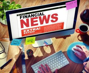 Digital Online Update Financial News Concepts