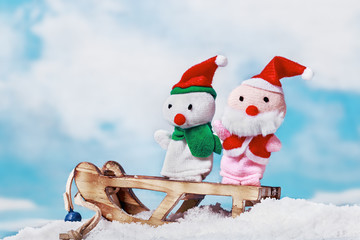 snowman and Santa toy
