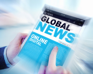 Digital Online Update Global News Concepts