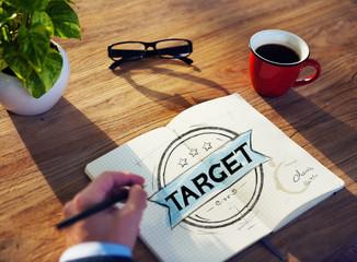 Businessman Brainstorming About Target Market