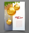 Christmas balls template background