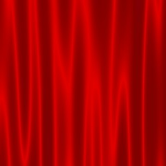 Theatre Stage With Red Velvet Curtains - Artistic Abstract Wave