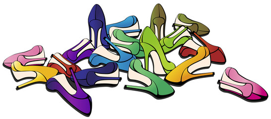 WOMEN SHOES. VECTOR ILLUSTRATION