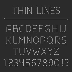 Line Alphabet and Numbers