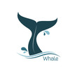Whale tail icon - 73282058