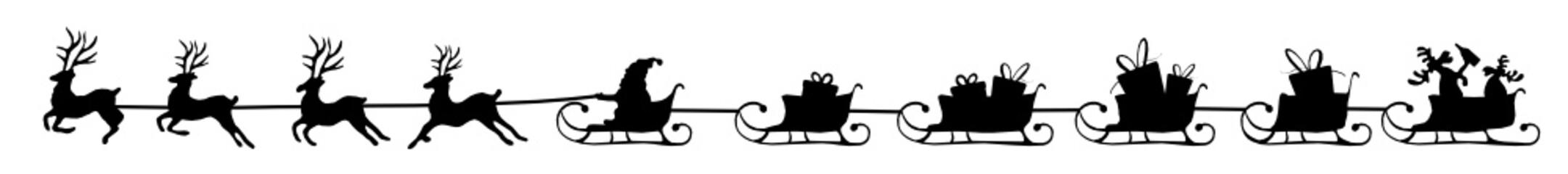 langer Schlitten Weihnachten