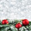 canvas print picture - Weihnachtlicher Bokeh-Hintergrund