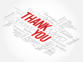 Thank You Word Cloud in vector format, presentation background
