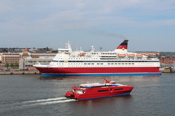 Viking Line Ferry go to the Helsinki port.