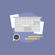 Business workflow flat icon illustration