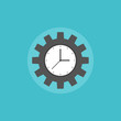Time management process flat icon illustration