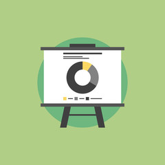 Market statistics flat icon illustration