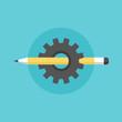 Creating process flat icon illustration