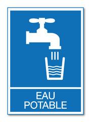 Panneau eau potable.