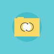 Network folder flat icon illustration