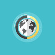 Big data analytics flat icon illustration