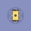 Mobile innovations flat icon illustration