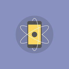 Mobile innovations flat icon illustration