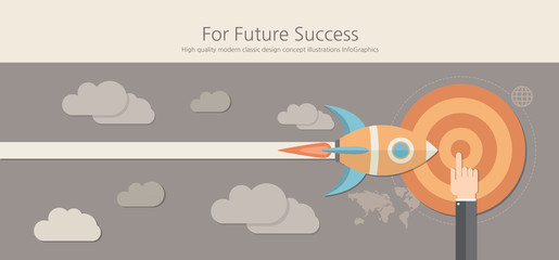 Modern and classic design for future success concept.