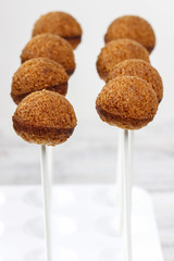 Cake pops before decorating
