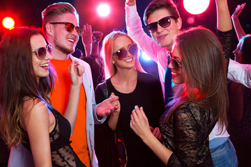 Young people at party.