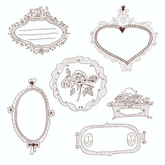 Set of decorative frames
