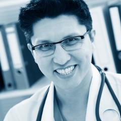 Medical doctor smiling