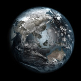 Gloomy, polluted Earth. Asia.