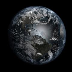 Gloomy, polluted Earth. America.