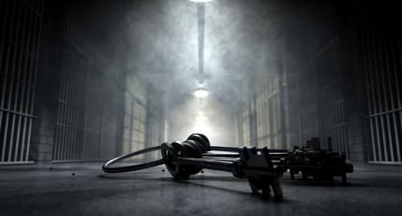 Jail Corridor And Keys