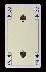 Spielkarten der Ladys - Pik Zwei