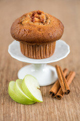 Delicious apple and cinnamon muffins
