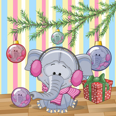 Elephant under the tree