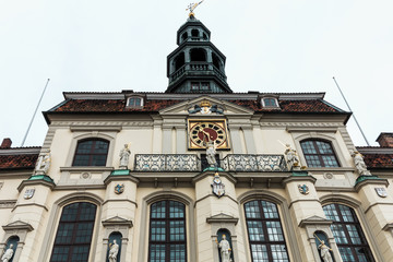 Das historische Lüneburger Rathaus am Marktplatz